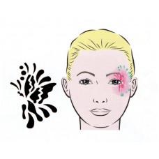 Butterfly, Schablone für Facepainting und Eye-Design