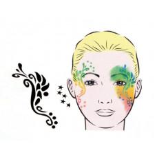 Dragonfly, Schablone für Facepainting und Eye-Design