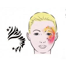 Mosaik, Schablone für Facepainting und Eye-Design
