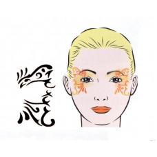 Ornament, Schablone für Facepainting und Eye-Design