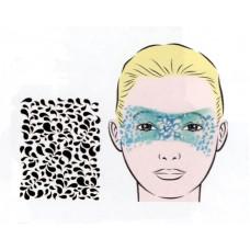 Drops, Schablone für Facepainting und Eye-Design