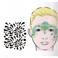 Flowerballs, Schablone für Facepainting und Eye-Design