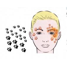 Paws, Schablone für Facepainting und Eye-Design
