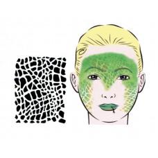 Reptile, Schablone für Facepainting und Eye-Design