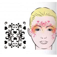 Retro Hearts, Schablone für Facepainting und Eye-Design