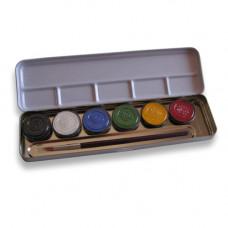 6 Farben Metallpalette