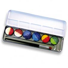6(12) Split-Cake-Farben Metallpalette