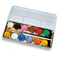 12 Farben Metallpalette