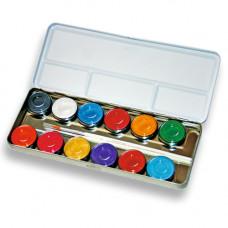 12 Perlglanz-Farben Metallpalette