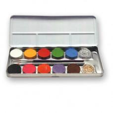 12 Farben Kombi-Metallpalette