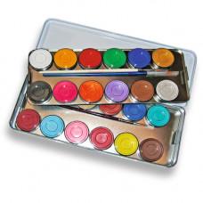 24 Farben Metallpalette