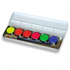 6 Neon-Farben Metallpalette