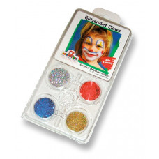 Clown Glitzer-Set