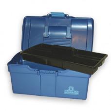 Profischminkkoffer blau-metallic