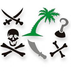 Tattoos of the Caribbean (XL) Schablonen-Set