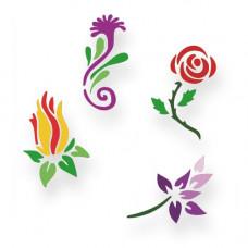 Flowers Schablonen-Set