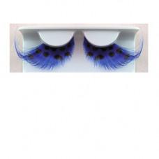 Wimpern blaue Federn mit schwarzen Punkten