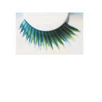 Wimpern schwarz/blau/grün