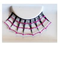 Wimpern pink/schwarz Spiderweb